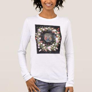 T-shirt À Manches Longues T33453 le couronnement de la Vierge entourée par