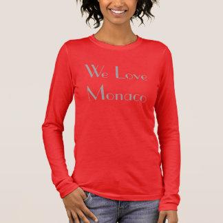 """T-shirt À Manches Longues T Shirt Femme """"We Love Monaco"""""""