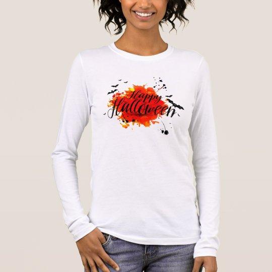 T-shirt À Manches Longues Tee shirt Femme Blanc Manches Longues Halloween
