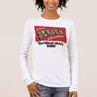 T-shirt À Manches Longues Très T des longues femmes de douille de Noël du