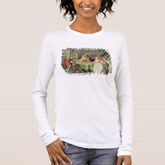 T-shirt À Manches Longues Un jardin d'agrément avec les chiffres élégants a