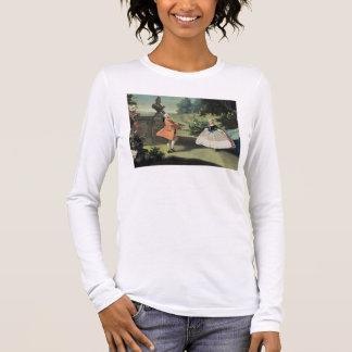 T-shirt À Manches Longues Un jardin d'agrément avec une jeune fille dansant