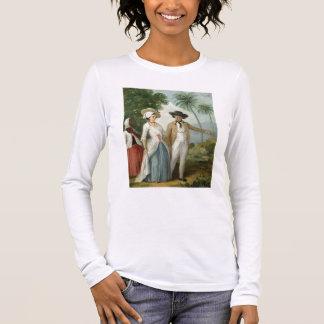 T-shirt À Manches Longues Un planteur et son épouse, servis par un employé,