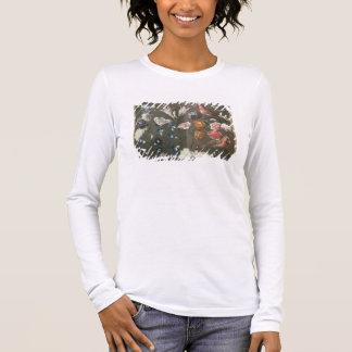 T-shirt À Manches Longues Une étude des pivoines, du convolvule, des lis et