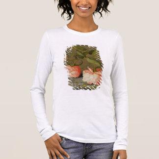 T-shirt À Manches Longues Une vie immobile avec des roses sur un rebord