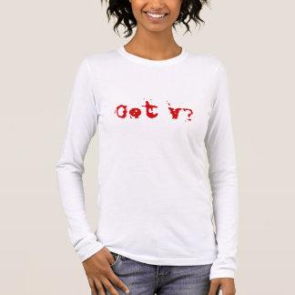 T-shirt À Manches Longues V obtenu