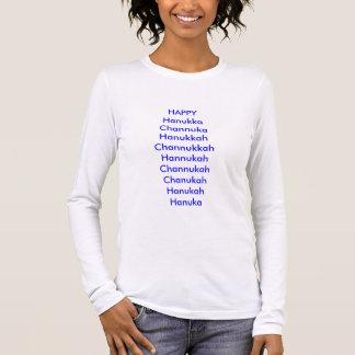 T-shirt À Manches Longues Vacances, heureuses, humour, hanukka, chanuka,
