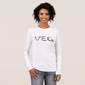 T-shirt À Manches Longues Végétarien ou longue pièce en t végétalienne de
