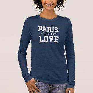T-shirt À Manches Longues Ville de Paris de l'amour