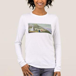 T-shirt À Manches Longues Vivant en troupe le renne, la Laponie, plaquent 47