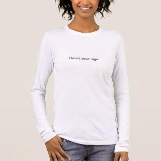 T-shirt À Manches Longues Voici votre signe