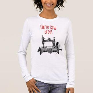 T-shirt À Manches Longues Vous êtes cousez la grande illustration
