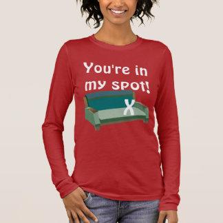 T-shirt À Manches Longues Vous êtes dans ma tache !