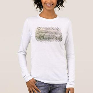 T-shirt À Manches Longues Vue de Bordeaux et de la rivière la Garonne,