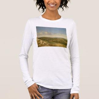 T-shirt À Manches Longues Vue de Haarlem des dunes (huile sur la toile)