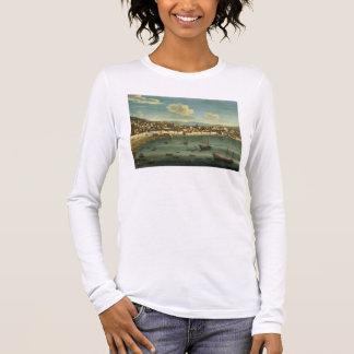 T-shirt À Manches Longues Vue de la baie de Naples de la baie de Chiaia (