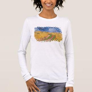 T-shirt À Manches Longues Wheatfield de Vincent van Gogh | avec des