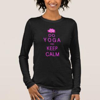T-shirt À Manches Longues Yoga avec la fleur de Lotus