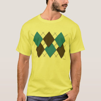 T-shirt à motifs de losanges moderne