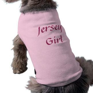 T-shirt à nervures de chien de fille du Jersey T-shirt Pour Chien