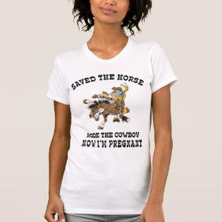 T-shirt A sauvé le cheval est monté le cowboy enceinte