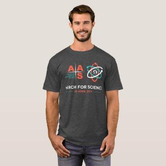 T-shirt Aas+Mars pour la Science ; Charbon de bois Heather
