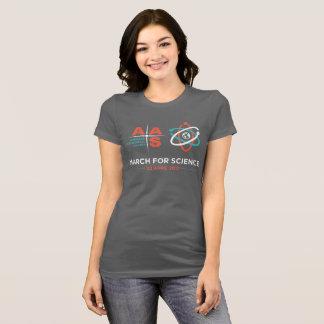 T-shirt Aas + Mars pour la Science ; Gris-foncé