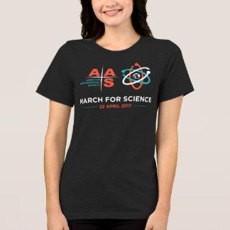 T-shirt Aas + Mars pour la Science ; Gris foncé de Heather