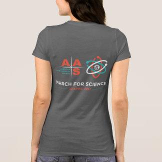 T-shirt Aas + Mars pour la Science ; Inverse, gris-foncé