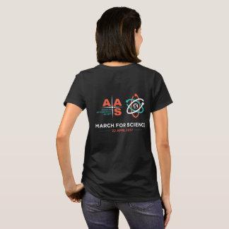T-shirt Aas + Mars pour la Science ; Inverse, noir