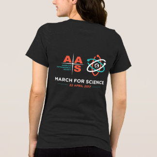 T-shirt Aas + Mars pour la Science ; Renversez, gris de