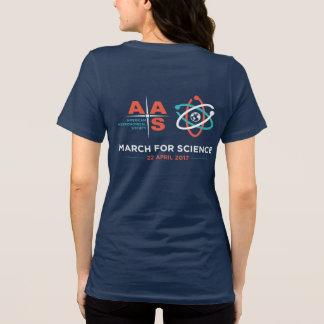 T-shirt Aas + Mars pour la Science ; Renversez, marine