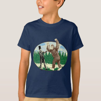 T-shirt ABE LINCOLN : CHASSEUR de SASQUATCH - logo drôle