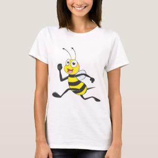T-shirt Abeille courante heureuse