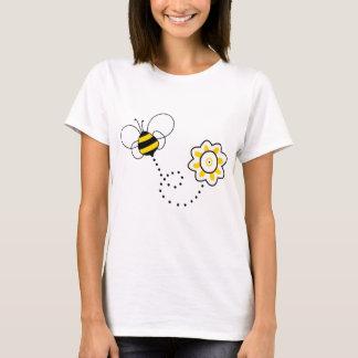 T-shirt Abeille et fleur mignonnes