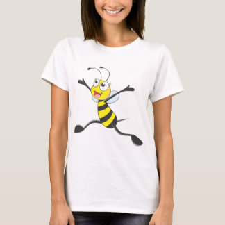 T-shirt Abeille femelle joyeuse
