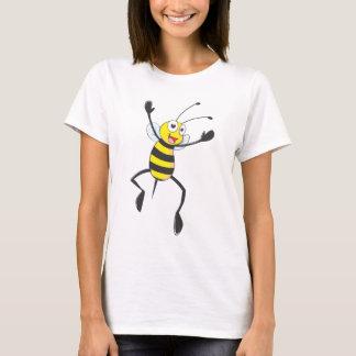 T-shirt Abeille heureuse sautant pour la joie