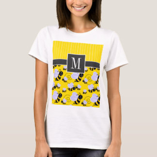 T-shirt Abeille jaune et noire élégante