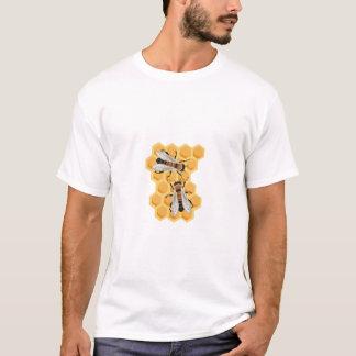 T-shirt abeilles sur le peigne