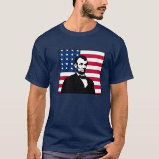 T-shirt Abraham Lincoln et drapeau américain