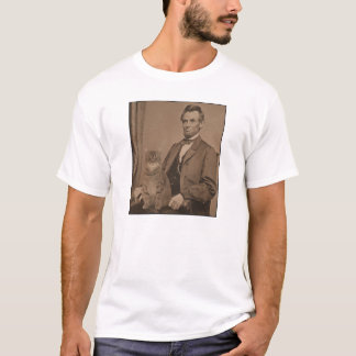 "T-shirt Abraham Lincoln et son chat ""Gloria """