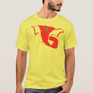 T-shirt Abrégé sur jaune Ganesh
