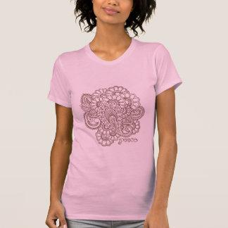 T-shirt abstrait de conception de Mehndi de henné