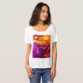 T-shirt abstrait de coucher du soleil