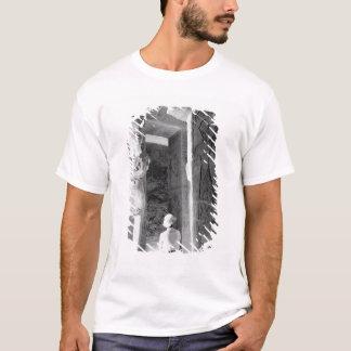 T-shirt Abu Simbel Egypte, touriste à l'intérieur du