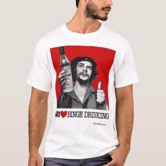 T-shirt Abus d'alcool de coeur de Che