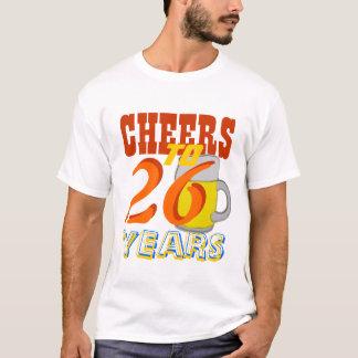 T-shirt Acclamations à 26 ans anniversaire de bière de