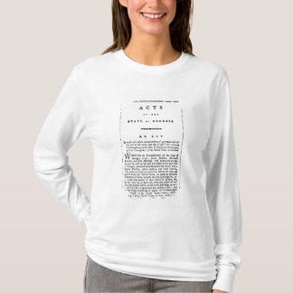 T-shirt Accord documentant le retrait obligatoire du dans
