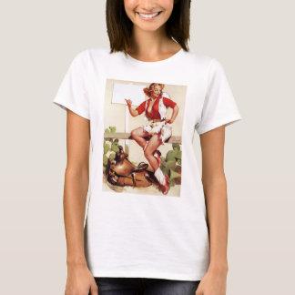 T-shirt Accroc de cow-girl un Pin de tour