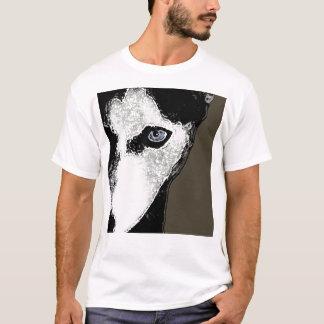 T-shirt Accrochez le chien de traîneau